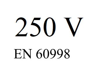 maximal 250 V zulässig